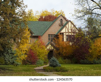 Lovely home in autumn. Prime real estate.