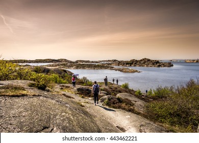 Lovely Island, beautiful nature and a dramatic sky -Gothenburg, Sweden.