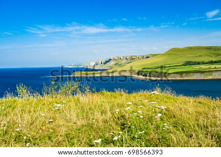 A lovely July walk from Kimmeridge in Dorset south west England visiting Clavell tower and Kimmeridge bay