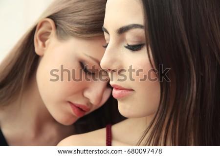 together Lesbian close
