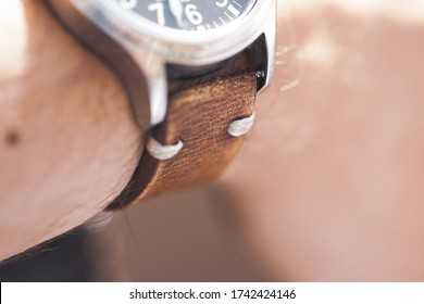 Lovely macro details of a rugged mens watch, with a extreme close up all of the little cool well designed details. Nice shallow depth of field, to give it an abstract feel.