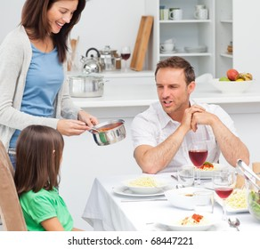 Lovely mother cooking for her family
