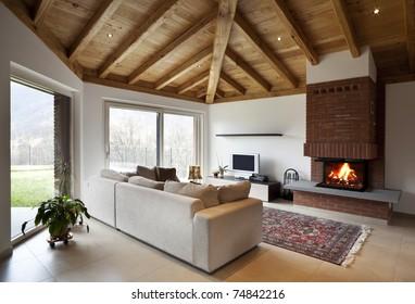 lovely new house, modern furniture, living-room view