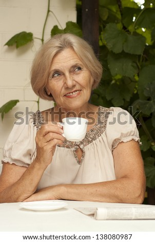 83f8a64a Lovely Older Woman Sitting Table Home Stock Photo (Edit Now ...