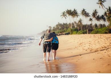 Lovely parents on the beach