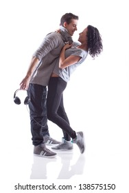 Lovely passion dance couple
