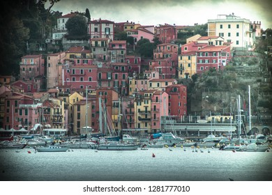 The lovely port of Lerici, Liguria, Italy