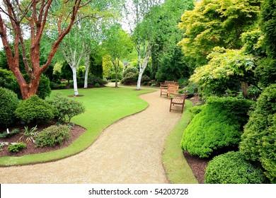 Lovely, public spring garden, Scotland