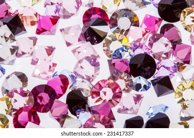 Lovely real colorful gems collection