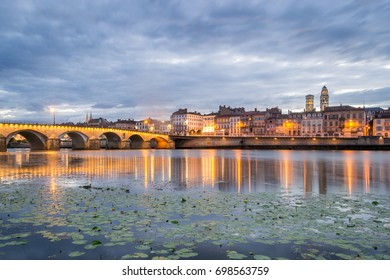 Lovely Riverside View of the City Macon, France