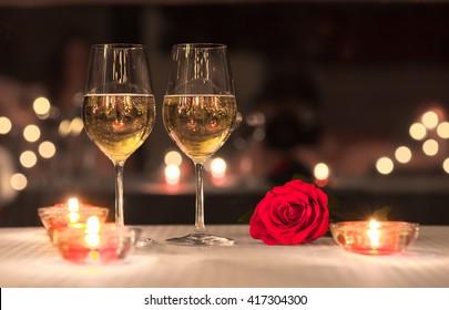 Lovely romantic dinner.