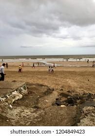 Lovely scene of Juhu Beach as on 2nd September 2018 in the morning in Mumbai, Maharashtra, India.