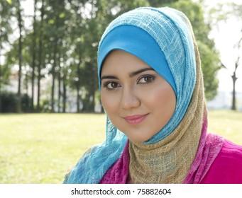 Lovely smile from Muslim girl
