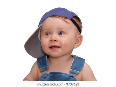 Lovely, smiling child on a white background