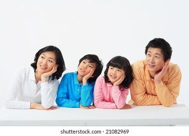 Lovely Smiling Family