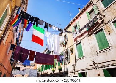 Lovely street, Venice, Italy