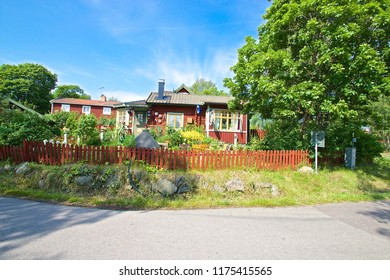 lovely traditionell Swedish house on a beautiful summerday