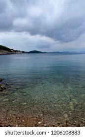 lovely view on horizon, Rovenska, island Losinj, Croatia