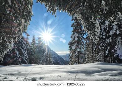 Lovely winter scenery in Bergen, Norway