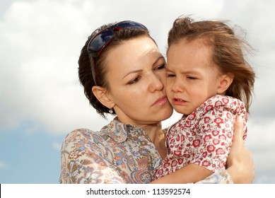 Lovely woman went for a walk with her �¢??�¢??little daughter