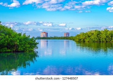Lovers Key State Park in Southwest Florida, a haven for wildlife and home to West Indian manatees, bottle nose dolphins, roseate spoonbills, marsh rabbits, and bald eagles.