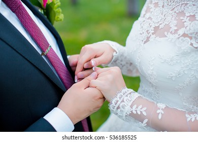 A loving couple holding hands