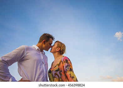 Loving Couple with intimate close up
