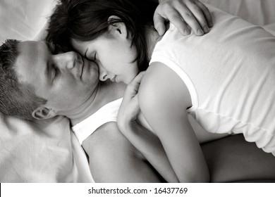 loving couple in a sensual mood