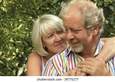 a loving couple showing closeness