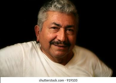 Loving Hispanic grandfather