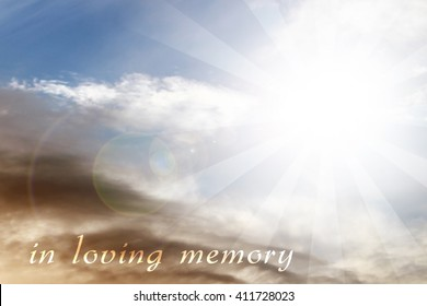In Loving Memory Mourning Background