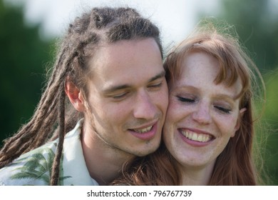 Loving young couple in Germany, Europe