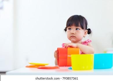 lovley little asian girl indoor