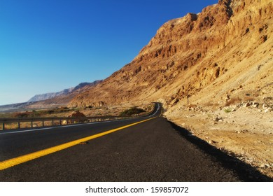 Low angle desert road