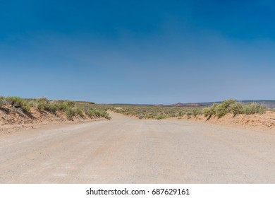 Low Angle of Dirt Road in Utah Wilderness