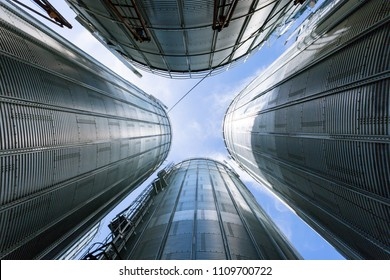low angle of industry stainless steel tanks