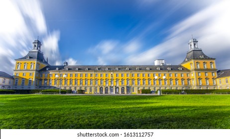 A low angle shot of the beautiful University of Bonn in Germany
