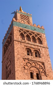 A low angle shot of the mesmerizing Koutoubia mosque in Marrakesh, Morocco
