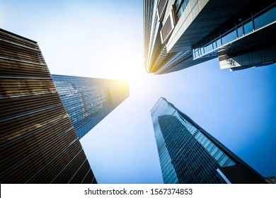 Low angle shot of modern architecture
