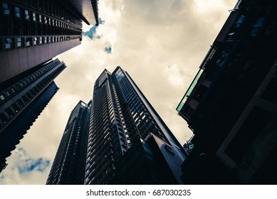 Low angle Skyscraper in Hong kong