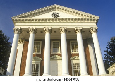 Low angle view of a building in the campus of University of Virginia in Charlottesville, VA