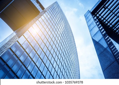 low angle view of business buildings in shanghai,China