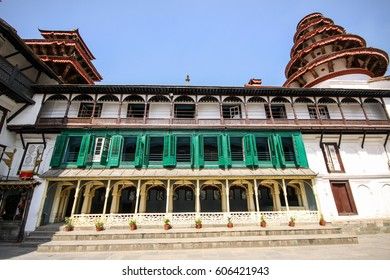 Low angle view of front Royal Palace, Kathmandu, Nepal