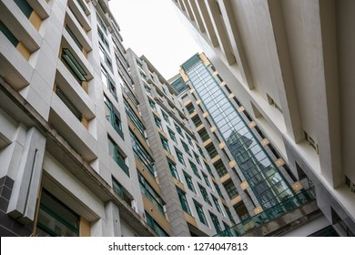 Low angle view of high rise residential buildings in Yilan County, Taiwan