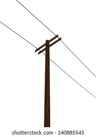 Low Angle View of an Isolated Power Pole
