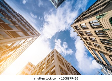Low Angle View of Modern buildings in Hamburg, Germany