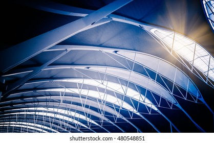 Low angle view of modern ceiling