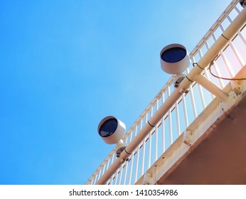 Low Angle View of Outdoor Electric Lamps Against Clear Blue Sky