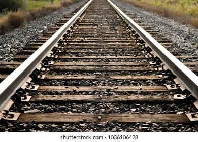 low angle view if railroad railway tracks