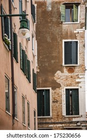 Low angle view of a residential building, Venice, Veneto, Italy